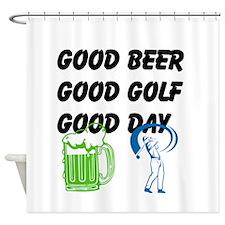 Good Golf Good Day Shower Curtain