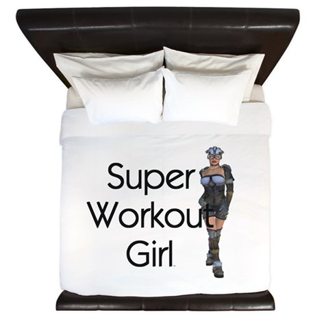 TOP Super Workout Girl King Duvet