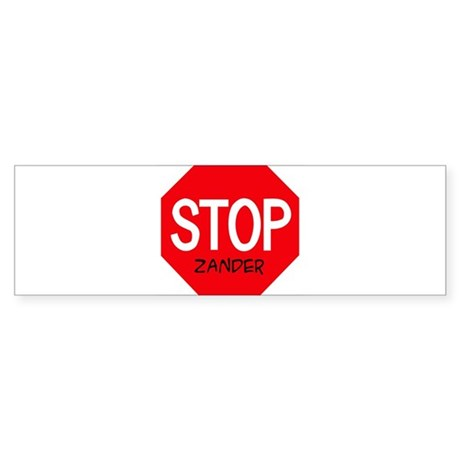 Stop Zander Bumper Sticker
