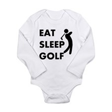 Eat Sleep Golf Long Sleeve Infant Bodysuit