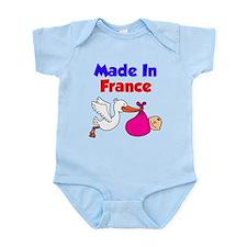 Made In France Girls Shirt Infant Bodysuit
