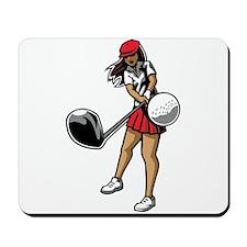 Golfer Chick Mousepad