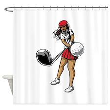Golfer Chick Shower Curtain