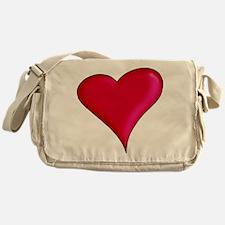 Red Heart Messenger Bag