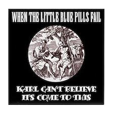 Limp Karl/black Tile Coaster