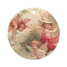 Cupid Angel 3 Ornament (Round)