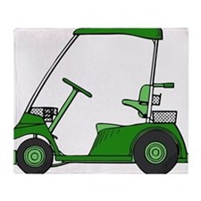 Green Golf Cart Throw Blanket
