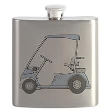 Blue Golf Cart Flask