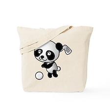 Panda Golfer Tote Bag
