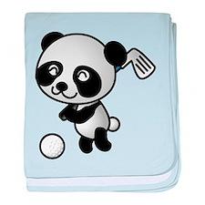 Panda Golfer baby blanket