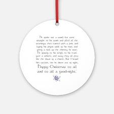 Christmas Poem Ornament (Round)