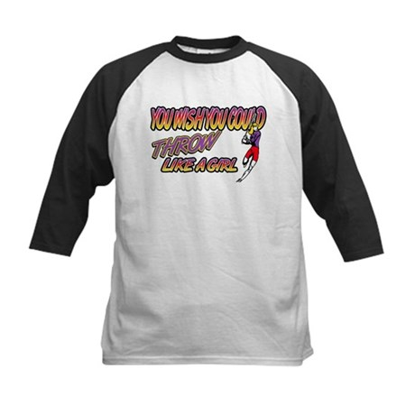 Lacrosse Throw Like A Girl Kids Baseball Jersey