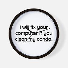 Clean Condo... Wall Clock