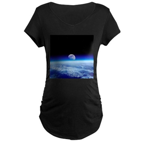 Moon rising over Earth's horizon - Maternity Dark