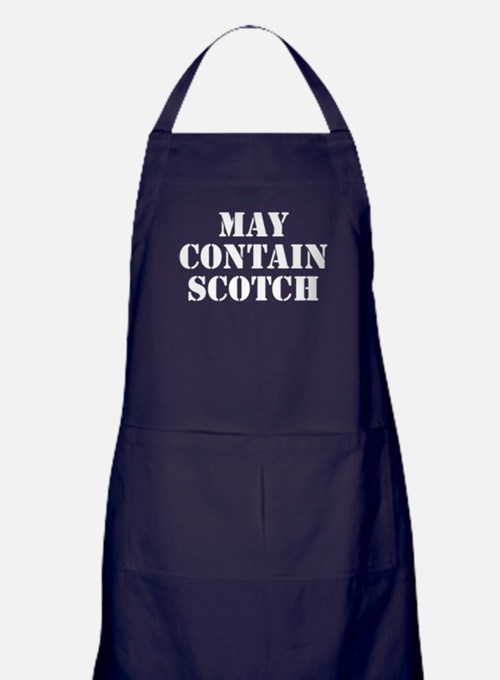 May Contain Scotch Apron (dark)