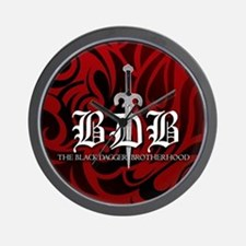 BDB Dagger Logo Red Wall Clock