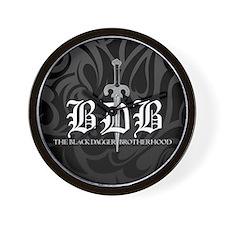 BDB Dagger Logo Black and Grey Wall Clock