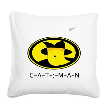 CAT MAN SYMBOL Square Canvas Pillow
