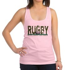 Rugby Blood Sweat Teeth Racerback Tank Top
