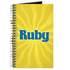 Ruby Sunburst Journal