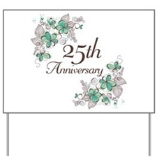 25th Anniversary Floral Yard Sign