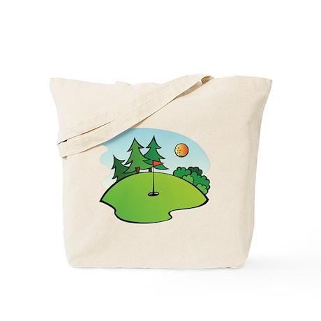 Golf Green Tote Bag