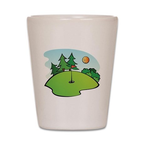 Golf Green Shot Glass