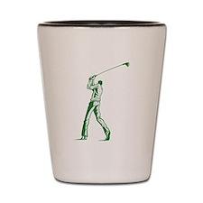 Green Golfer Shot Glass