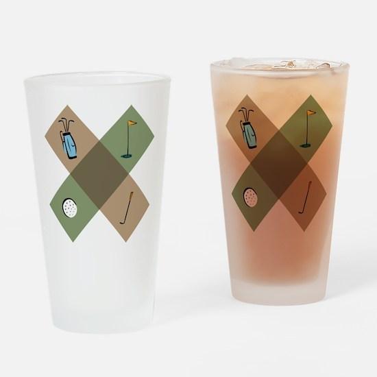 Golf Icon Drinking Glass