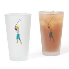 Female Golfer Drinking Glass