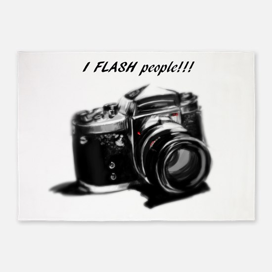 I flash people 5'x7'Area Rug