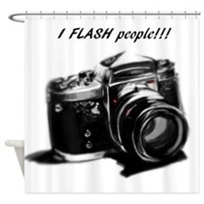 I flash people Shower Curtain
