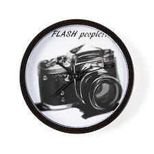 I flash people Wall Clock