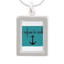 i refuse to sink Silver Portrait Necklace
