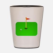 Golf Green Shot Glass