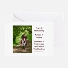 Wi Trail Riding Greeting Cards (Pk of 10)