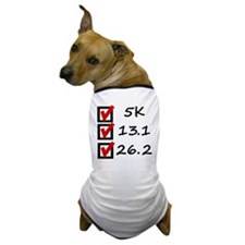 Race Checklist Dog T-Shirt