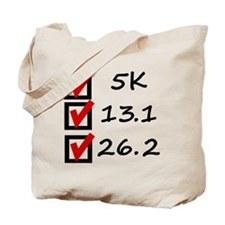 Race Checklist Tote Bag