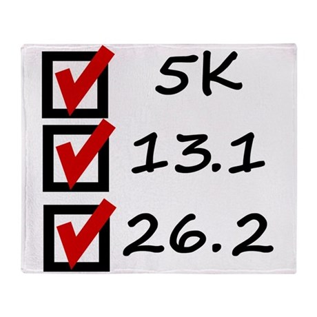 Race Checklist Throw Blanket
