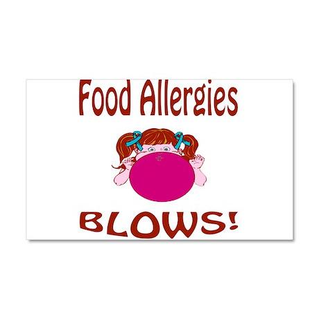 Food Allergies Blows! Car Magnet 20 x 12