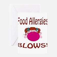 Food Allergies Blows! Greeting Card