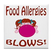 Food Allergies Blows! Tile Coaster