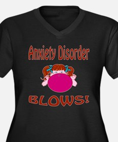 Anxiety Disorder Blows! Women's Plus Size V-Neck D