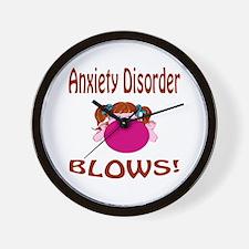 Anxiety Disorder Blows! Wall Clock