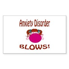 Anxiety Disorder Blows! Decal