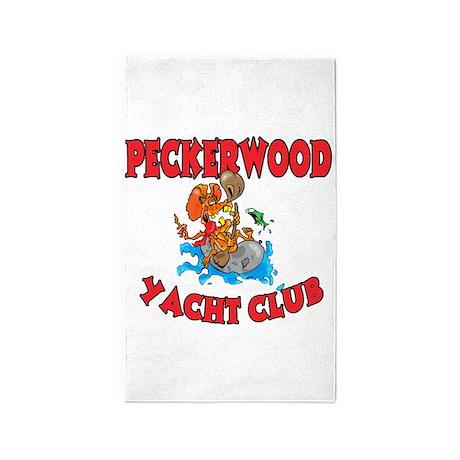 PECKERWOOD YACHT CLUB 3'x5' Area Rug