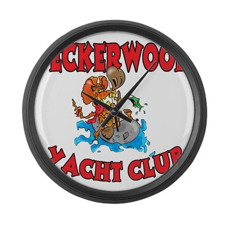 PECKERWOOD YACHT CLUB Large Wall Clock