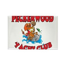 PECKERWOOD YACHT CLUB Rectangle Magnet