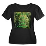Get ECO Green Women's Plus Size Scoop Neck Dark T-