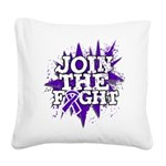 Join Fight GIST Cancer Square Canvas Pillow